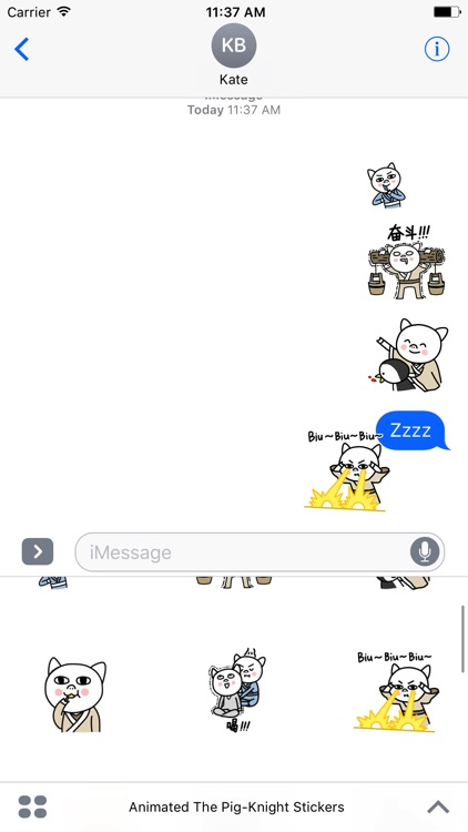 Animated The Pig-Knight Stickers For iMessage screenshot-4