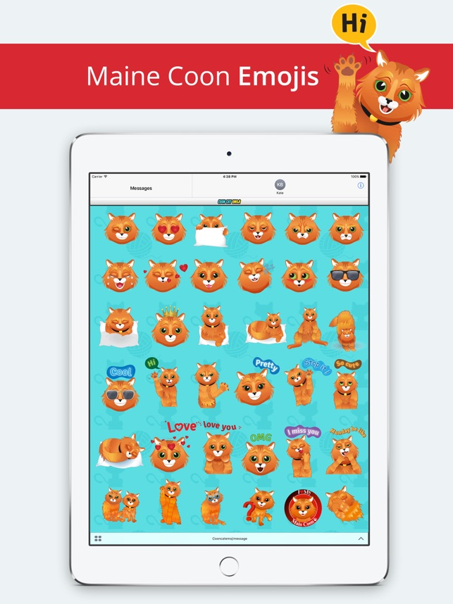 coon cat emoji maine coon stickers for cat lovers on the app store