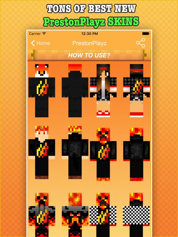 Best PrestonPlayz Skins For MInecraft PE & PC iOS Application