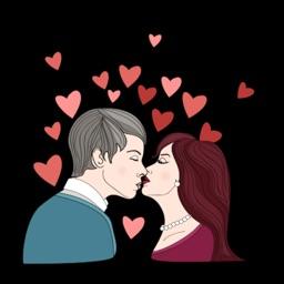 Valentine's Special Love Sticker-Rose,Heart,Flower