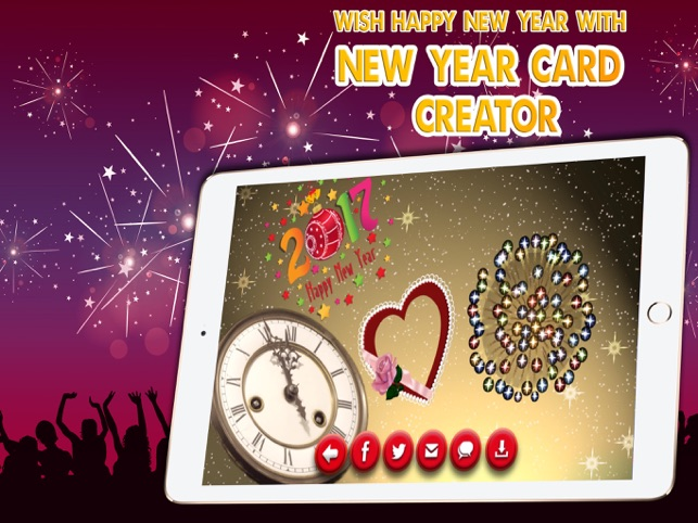 happy new year card maker wish new year greetings on the app store