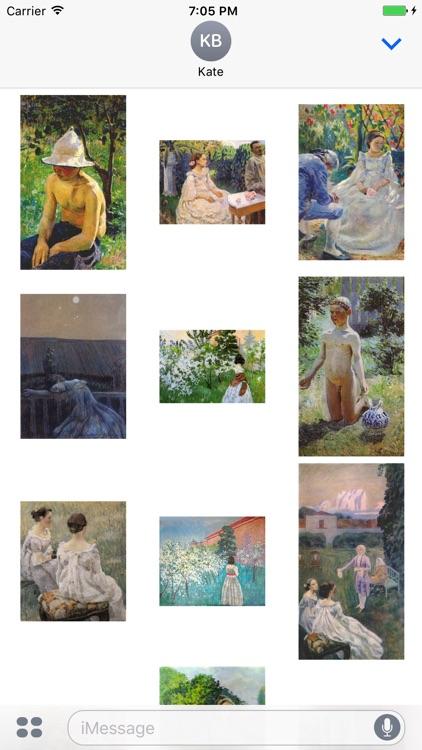 Victor Borisov Musatov Artworks Stickers