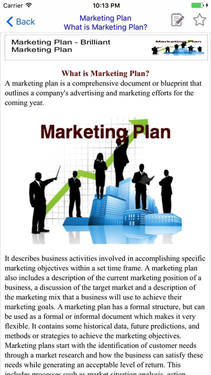 Marketing Plan - Brilliant Marketing Plan