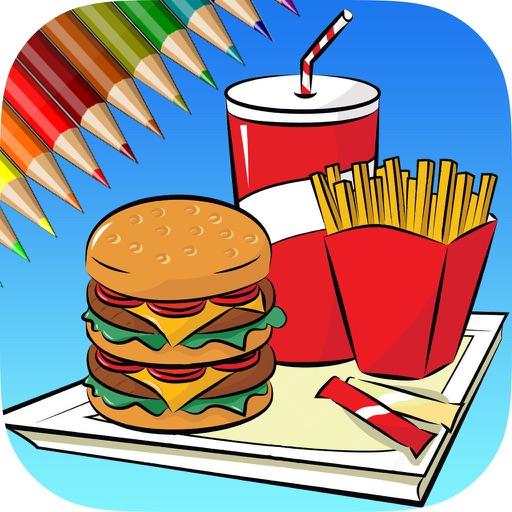 Hello Food - Malbuch für mich & Kinder
