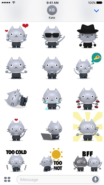Plastic Cat Animated Stickers