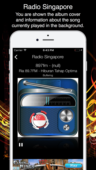 Radio Singapore - Live Radio Listening screenshot two