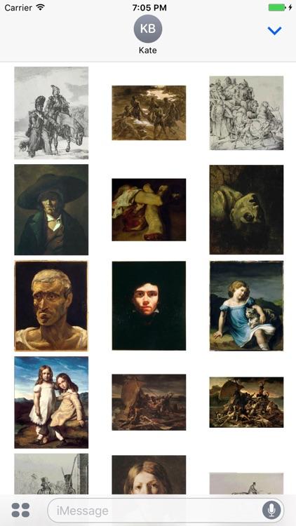 Theodore Gericault Artworks Stickers