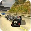 警察の車の追跡:オフロードヒルレーシング