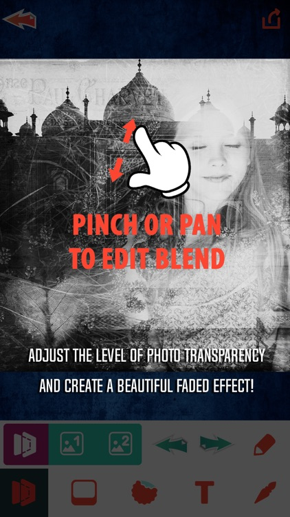 Photo Blender Editor - Double Exposure Fade Effect