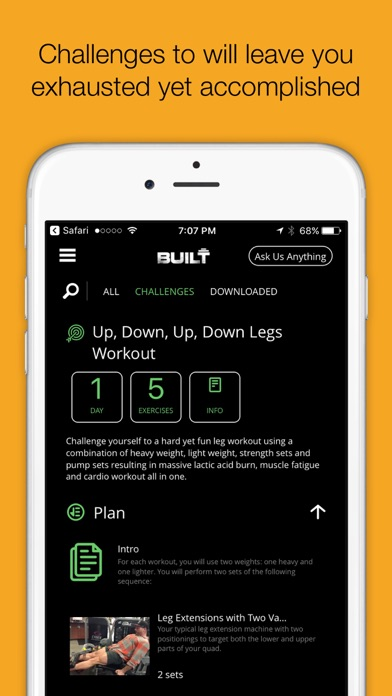 IAMBUILT - training workout challenges & more screenshot two