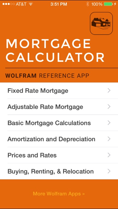 Wolfram Mortgage Calculator Reference App