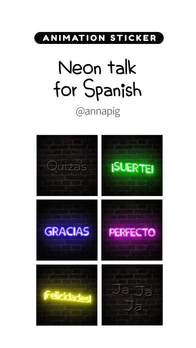 Neon talk for Spanish screenshot 1