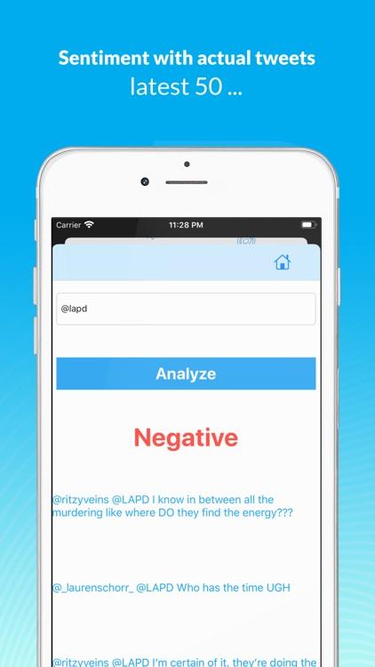 Tweets Sentiment Analyzer screenshot-5