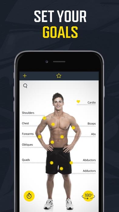 Workout for men:Weight lifting Screenshot