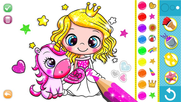 Glitter Coloring For Kids by C FLOW GAMES SARL