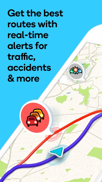 Waze Navigation & Live Traffic screenshot-0