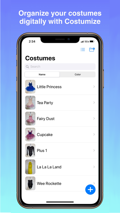 Costumize - Digital Inventory screenshot 1