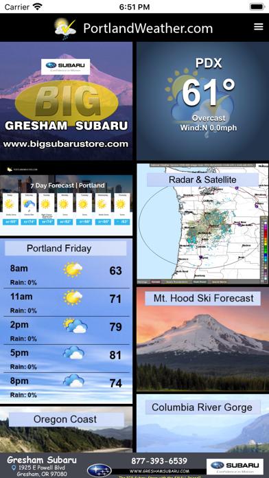 Portland Weather Appのおすすめ画像1