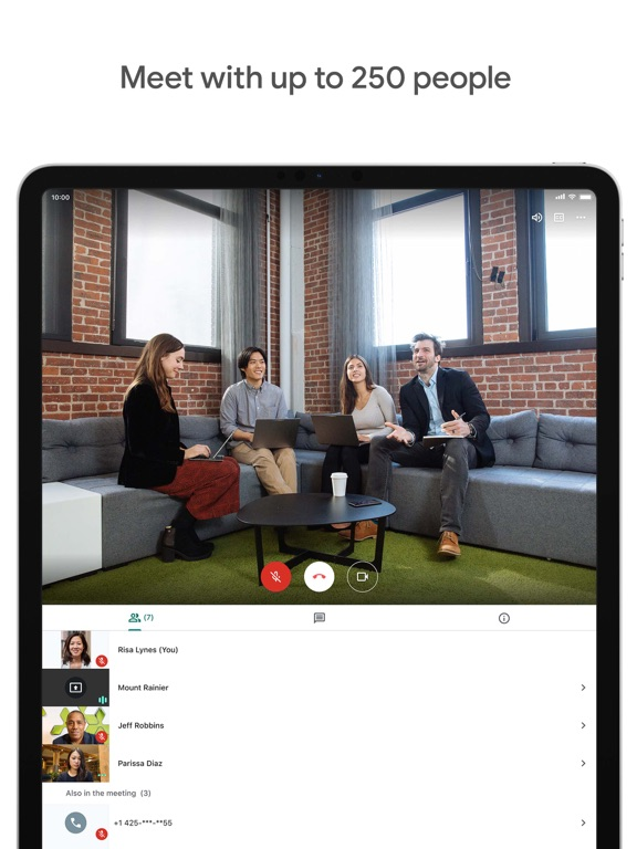 iPad Image of Google Meet