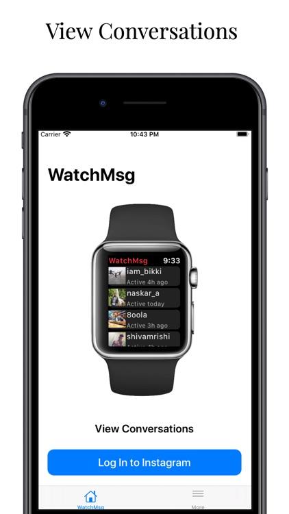 WatchMsg for Instagram
