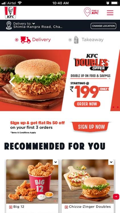 KFC online food ordering screenshot-5