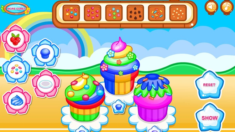 Cooking colorful cupcakes game screenshot-7