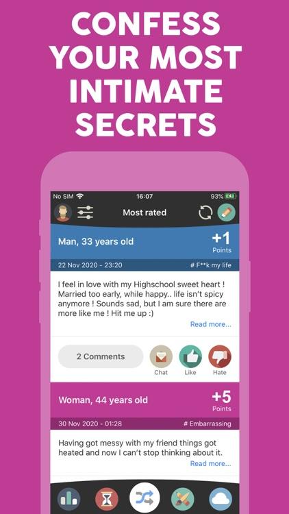 Anonymous secret confessions