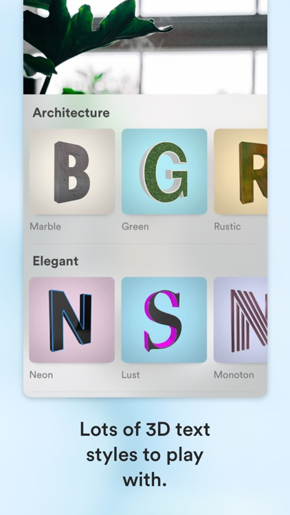 3D Text Camera: Words in AR
