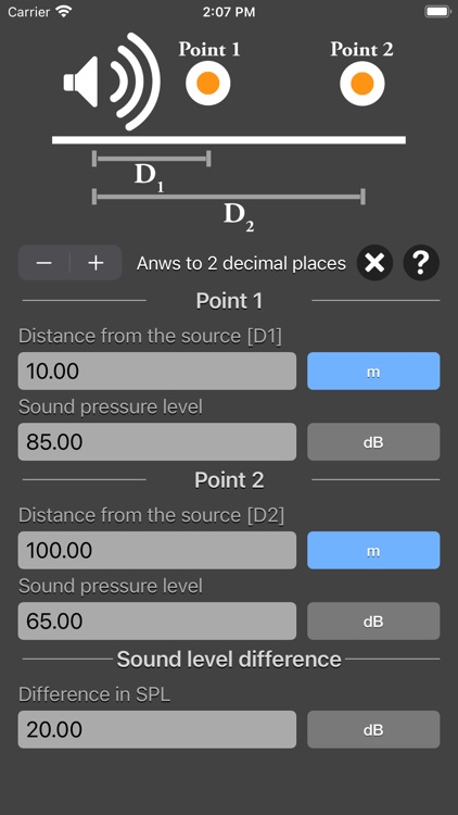 Distance Attenuation Calc screenshot-6
