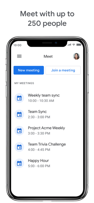 ‎Google Meet Screenshot
