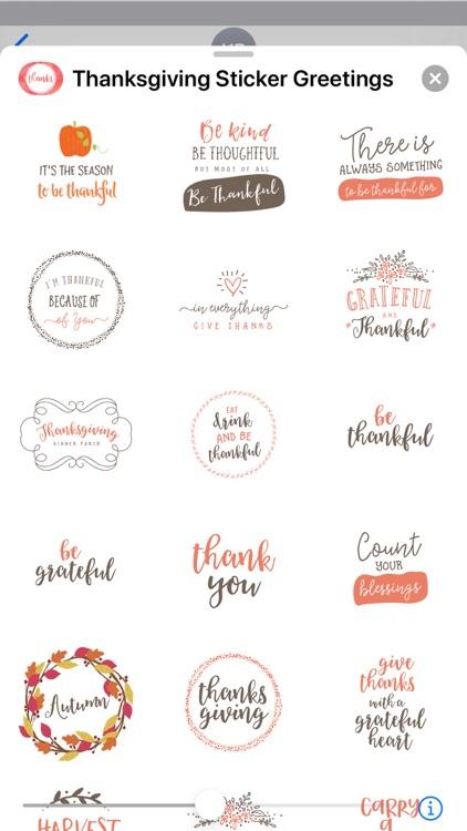 Thanksgiving Sticker Greetings