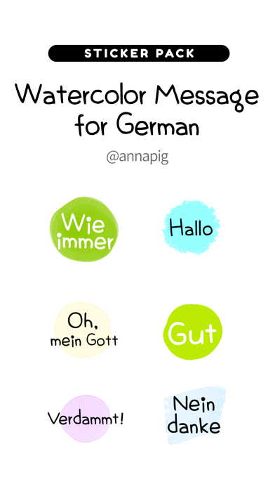 Watercolor Message for German2 screenshot 1