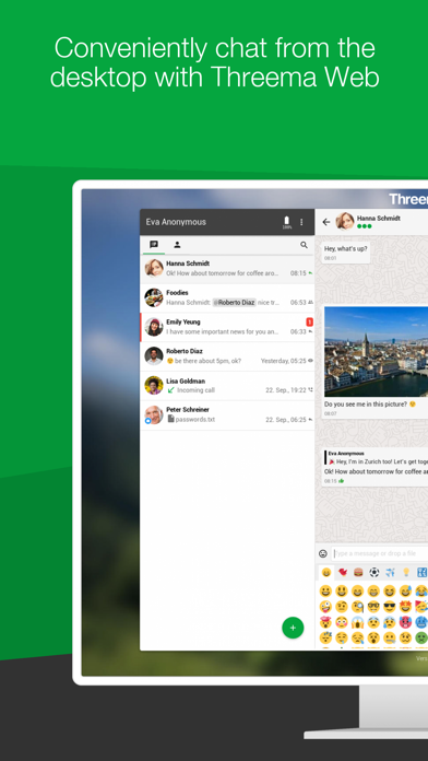 Threema. The Secure Messenger Screenshots