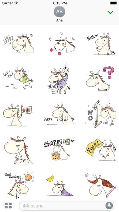 Daily Life of Cute Horse Icons screenshot 2