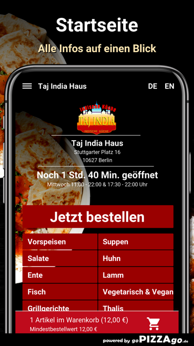 Taj India Haus Berlin screenshot 2