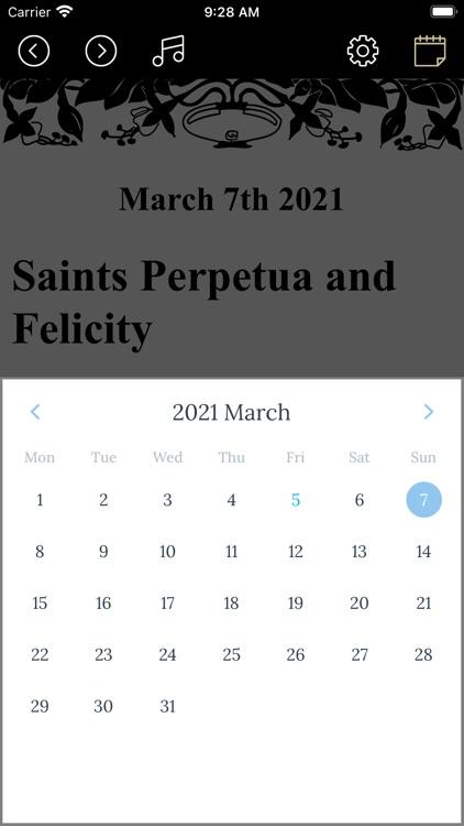Saints Calendar
