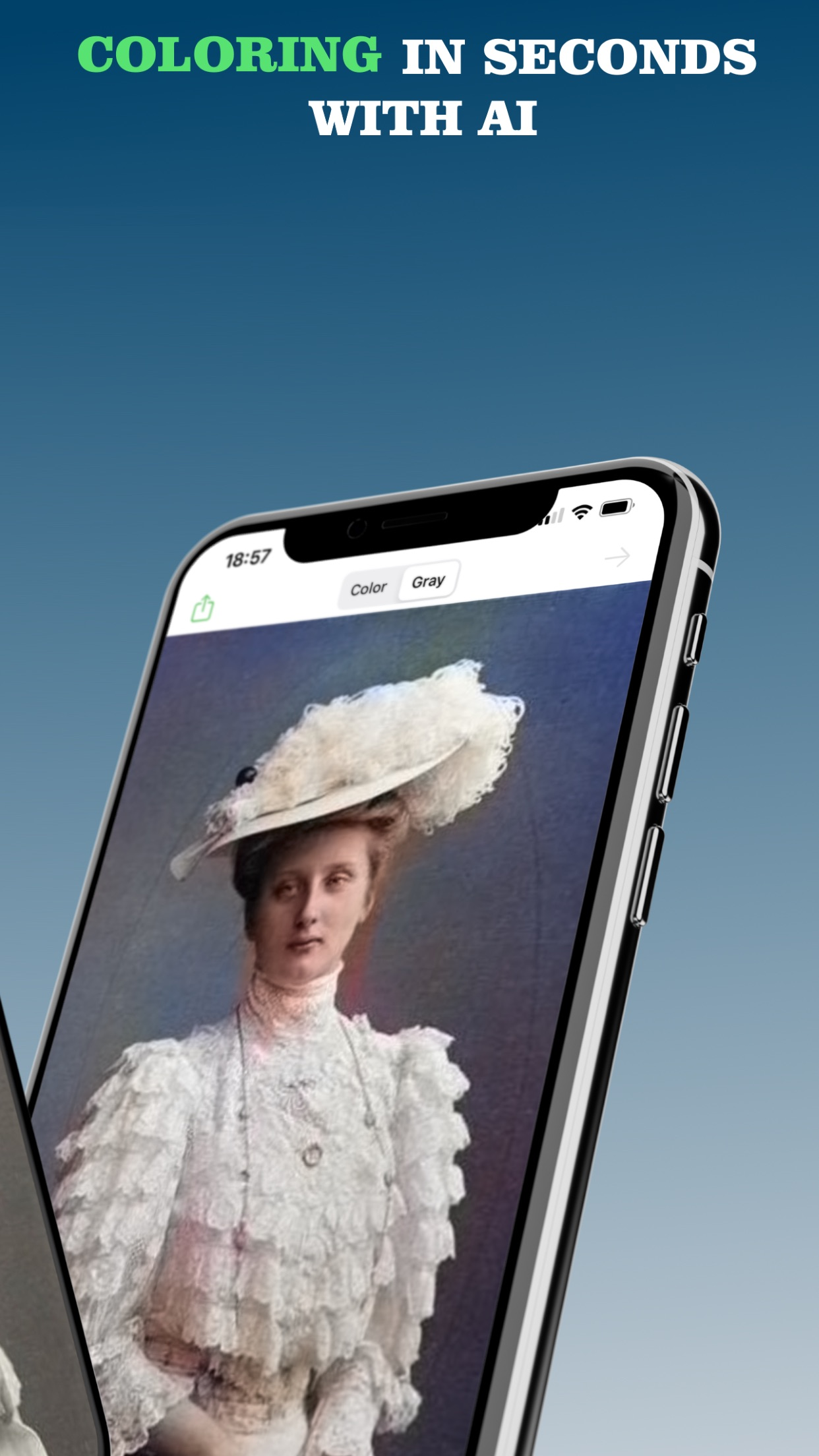 Screenshot do app Colorize - Improve Old Photos