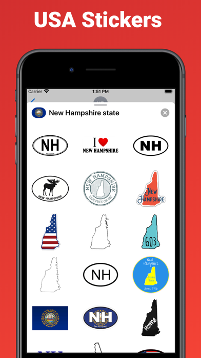 New Hampshire - USA stickers screenshot 2