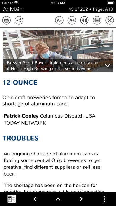 Columbus Dispatch E-Edition Screenshot