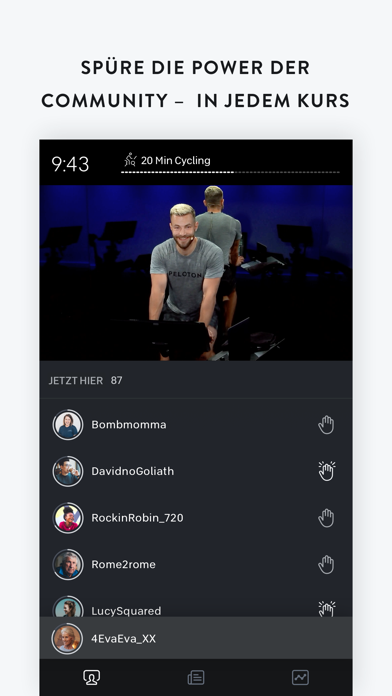 messages.download Peloton — Live Fitness zuhause software