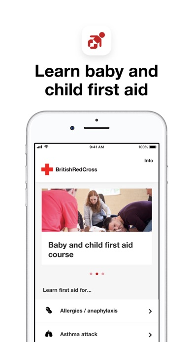 Baby and child first aid screenshot one