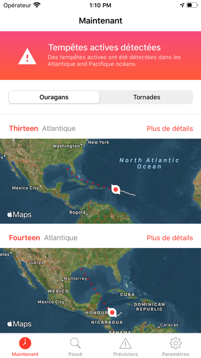 Mon Tracker d'Ouragans Pro