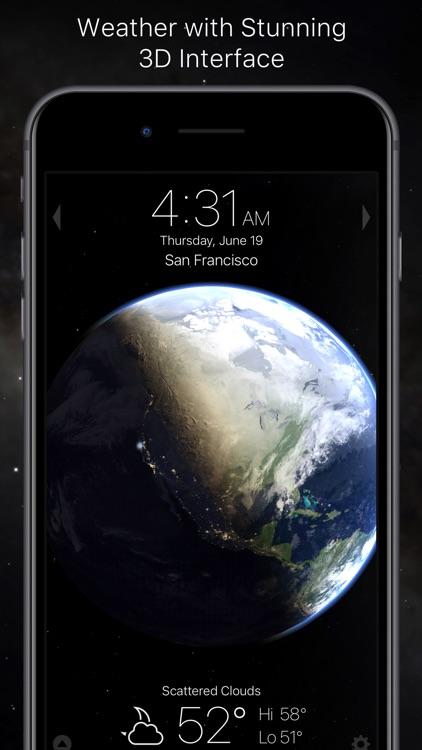 Living Earth - Clock & Weather screenshot-0