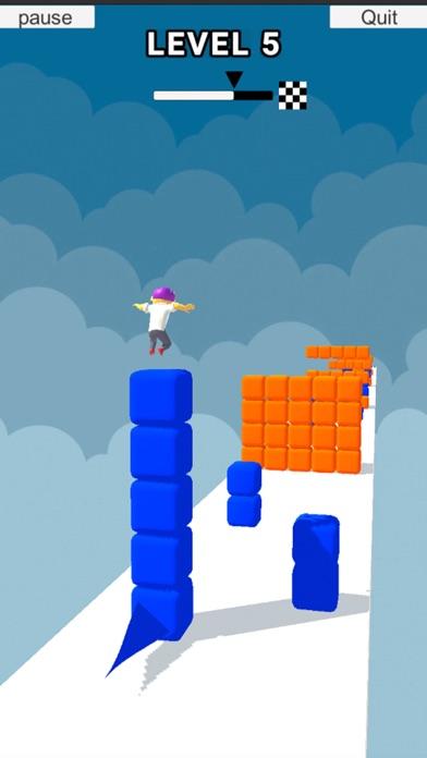 Cube Stacker Surfer 3D Run screenshot 1
