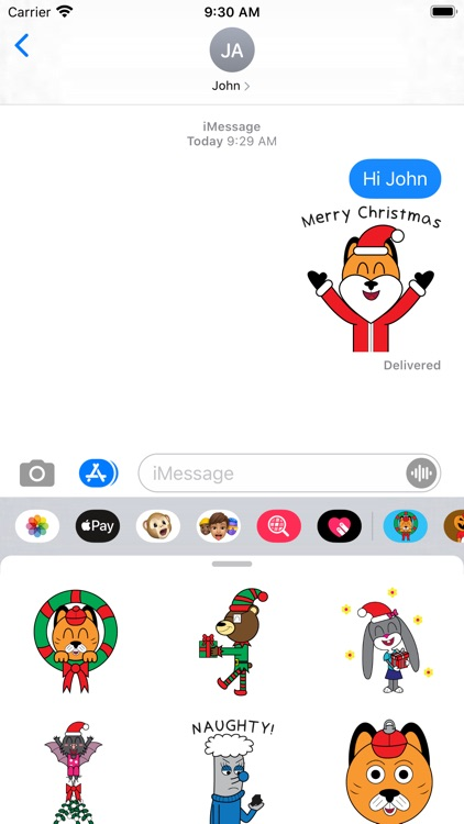 Fun Fact Holiday Stickers