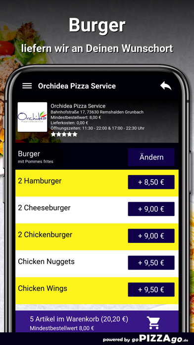 Orchidea Pizza Remshalden screenshot 6