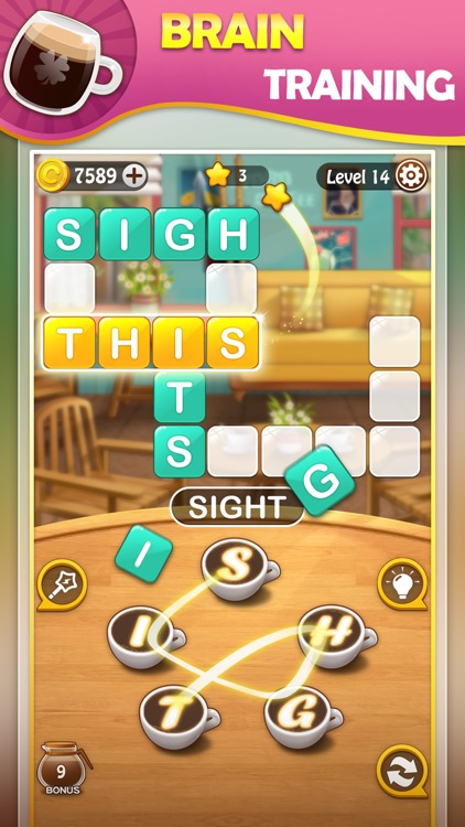 Brain training game:WordCoffee screenshot-0