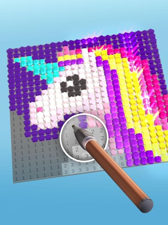 Diamond Painting ASMR Coloring iPad app afbeelding 3