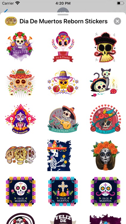 Dia De Muertos Reborn Stickers