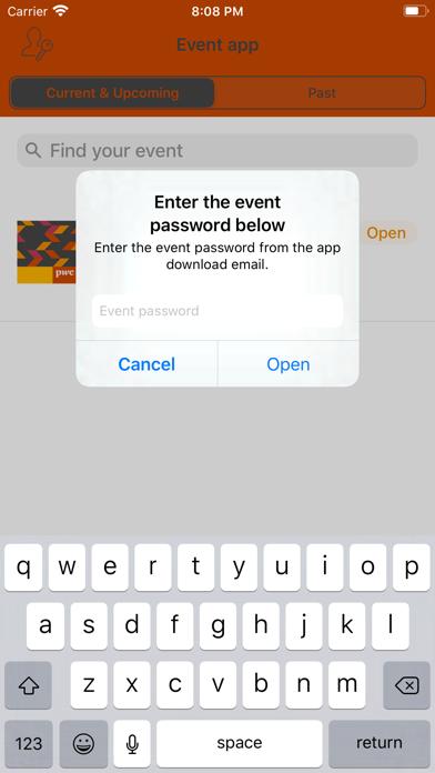 PwC BE Events screenshot 2